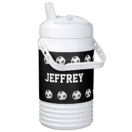 Personalized Igloo Beverage Cooler Soccer Black