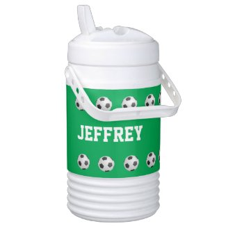 Personalized Igloo Beverage Cooler Soccer Green