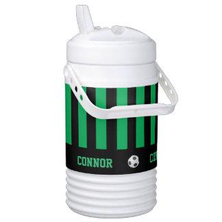 Personalized Igloo Beverage Cooler, Soccer, Green Beverage Cooler