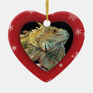 Personalized Iguana Photo Holiday Ornament