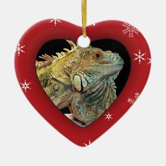 Personalized Iguana Photo Holiday Ornament