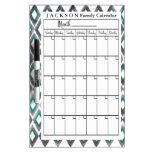 Personalized Ikat Calendar Dry Erase Board