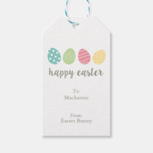 Easter egg gift tags zazzle personalized illustrated easter egg gift tags negle Image collections