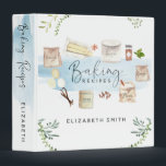 "Personalized Illustrated Watercolor Baking Recipes 3 Ring Binder<br><div class=""desc"">After making a chocolate cake with my granddaughter, I thought she might like a recipe binder to collect favorite recipes in as she grows up. She loved the idea, and this is the binder I created for her, the little baker. I hope you like it as much as we do!...</div>"