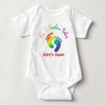 Personalized I'm A Rainbow Baby Bodysuit