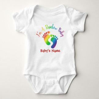 Personalized I'm A Rainbow Baby Bodysuit