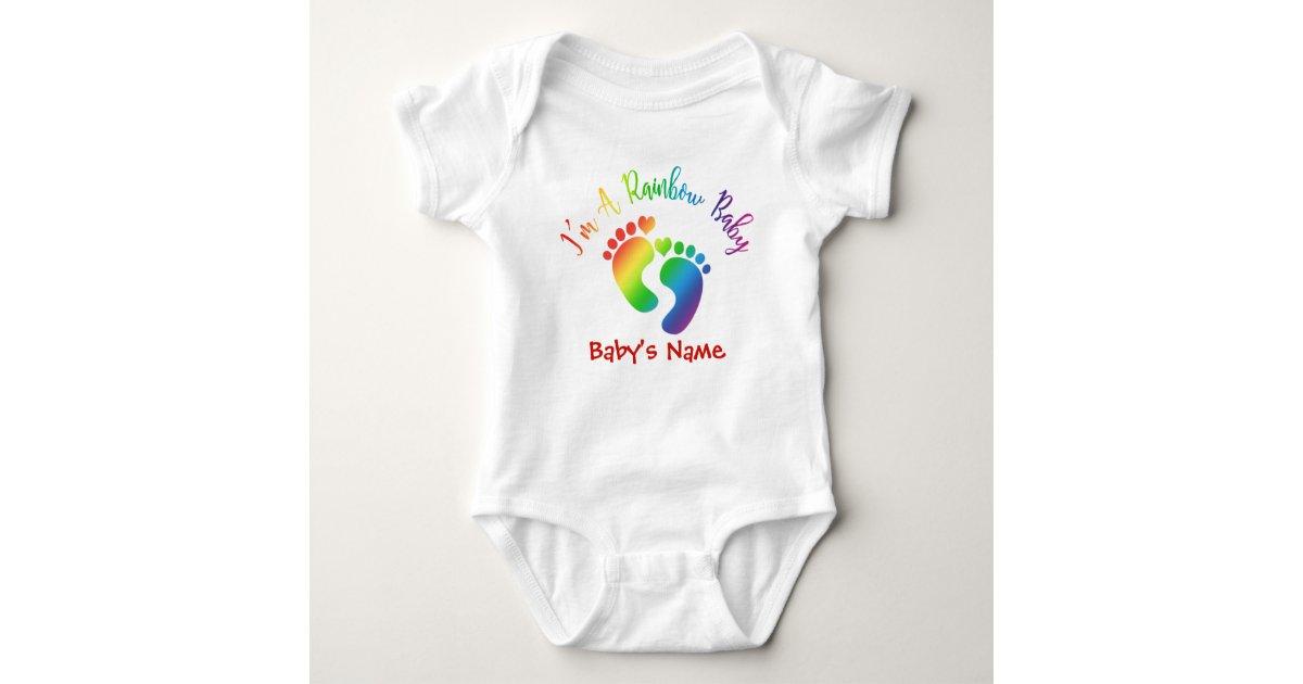 830944760 Personalized I'm A Rainbow Baby Bodysuit | Zazzle.com
