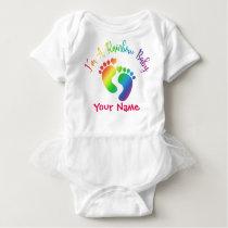 Personalized I'm A Rainbow Baby Tutu Bodysuit