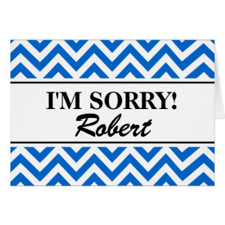 Personalized i'm sorry greeting cards | zigzag