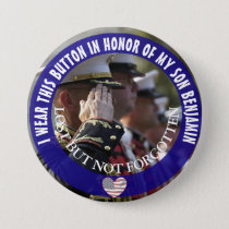Personalized In Honor of my son Button