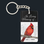"Personalized In Loving Memory Cardinal Keychain<br><div class=""desc"">Cardinals are often thought of as symbolic creatures whose presence represents a loved one that has passed away. Customize this memorial keychain with words that bring peace and comfort to your spirit. Not sure what message to write? &quot;Cardinals appear when angels are near.&quot; is a common sentiment that speaks to...</div>"