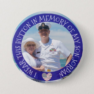 Personalized In memory of my son Button