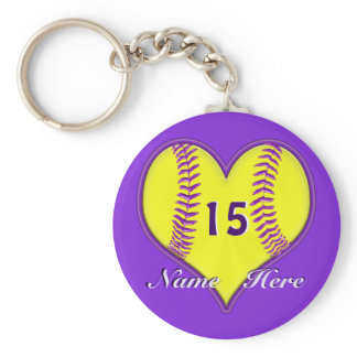 PERSONALIZED Inexpensive Softball Team Gifts Keychain