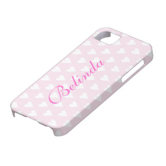 Personalized initial B girls name hearts pink cute iPhone 5 Cover