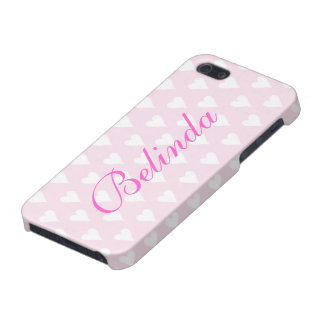 Personalized initial B girls name hearts pink Case For iPhone 5/5S