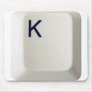 Personalized Initial Computer Key_K mousepad