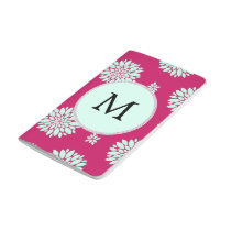 Personalized Initial Monogram Fuchsia Flowers Journal