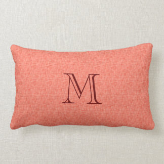 Personalized Initial Name Linen Look Toss Throw Pillow