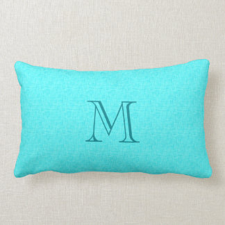 Personalized Initial Name Linen Look Toss Pillows