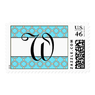 Personalized Initial Postage Stamp stamp