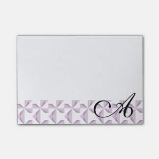 Personalized Initial Purple Pinwheels Post-it® Notes