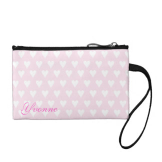 Personalized initial Y girls name pink hearts Coin Purse