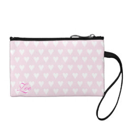 Personalized initial Z girls name pink hearts Change Purse