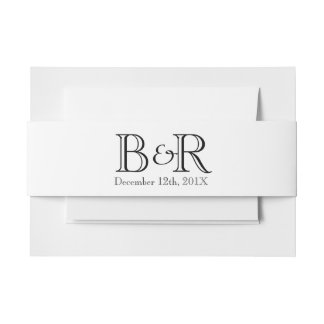 Personalized Initials and Date Belly Band