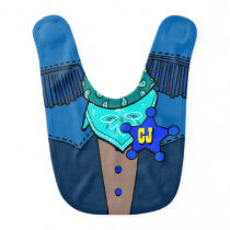 Personalized Initials Cowboy Fashion Statement Baby Bib