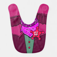 Personalized Initials Cowgirl Fashion Statement Bib