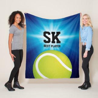 Personalized Initials | Green Tennis Ball Fleece Blanket