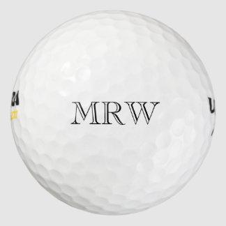 Personalized Initials Monogram Classic Black Golf Balls