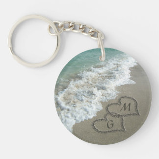 Personalized Initials on the Beach Keychain