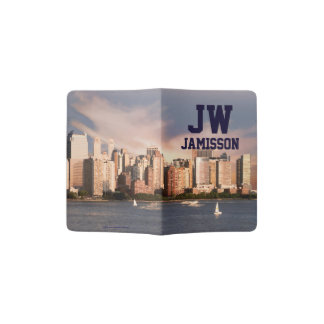 Personalized Initials Passport Holder Manhattan NY