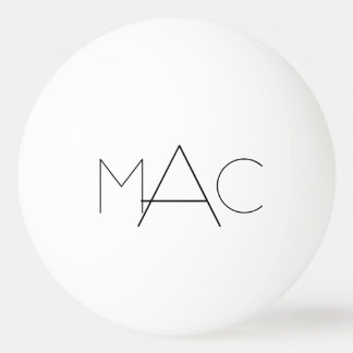 Personalized Initials Ping-Pong Ball