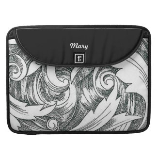 Personalized Ink Art Swirl Macbook Sleeve