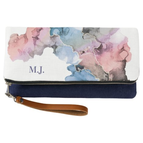 Personalized Ink Paint splash abstract design Clutch