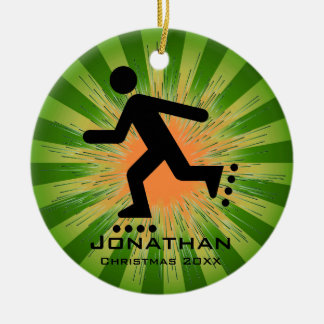 Personalized inline Skating Ornament
