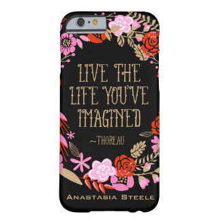 Personalized Inspiration Live Life Imagined Quote Barely There iPhone 6 Case