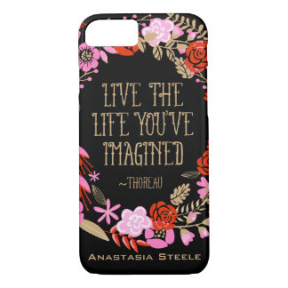 Personalized Inspiration Live Life Imagined Quote iPhone 8/7 Case