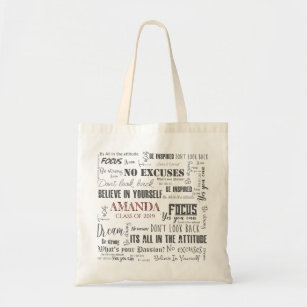 f4bf825dad65 Personalized Inspiration Word Art Graduation Tote Bag