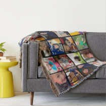 Personalized Instagram Photo Collage Throw