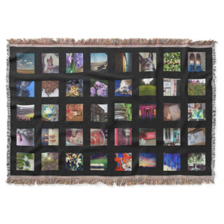 Personalized Instagram Photo Throw Blanket