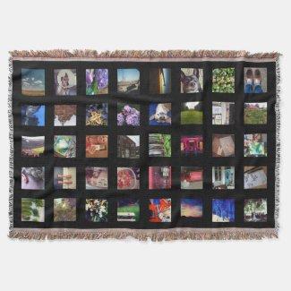 Personalized Instagram Photo Throw Blanket