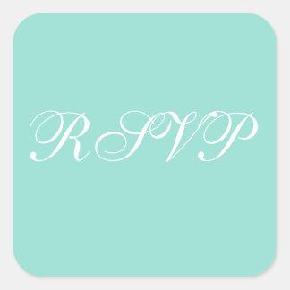 Personalized Invites Pale Robin Egg Blue Square Sticker