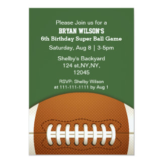 Personalized Invites Sports Party football theme