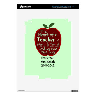 Personalized iPad Skin for Teacher