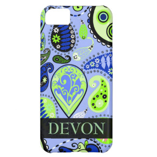 Personalized iPhone 5 Paisley Mobile Device Case