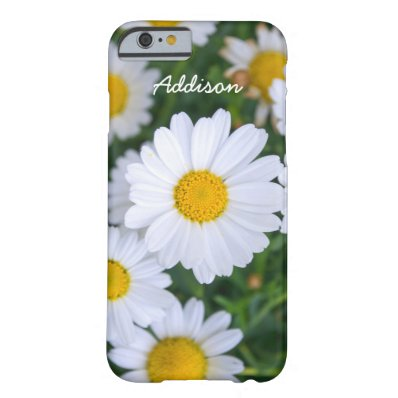Personalized iPhone 6 Cases Daisy Add Your Text Barely There iPhone 6 Case