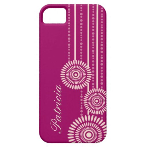 Personalized iPhone Case For iPhone 5 - Maroon